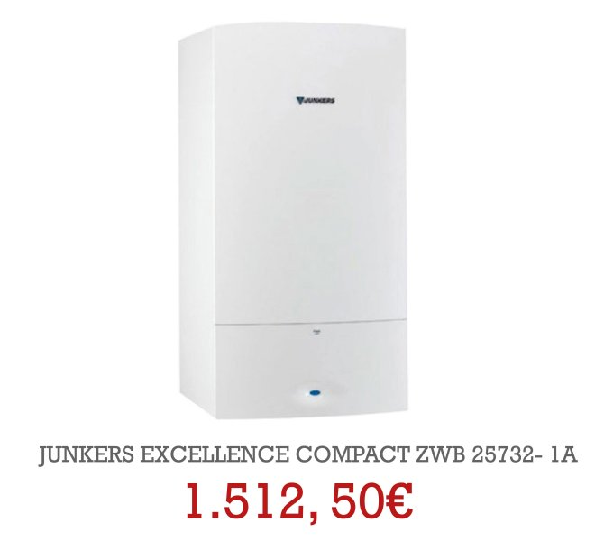 JUNKERS EXELLENCE COMPACT ZWB 25732- 1A